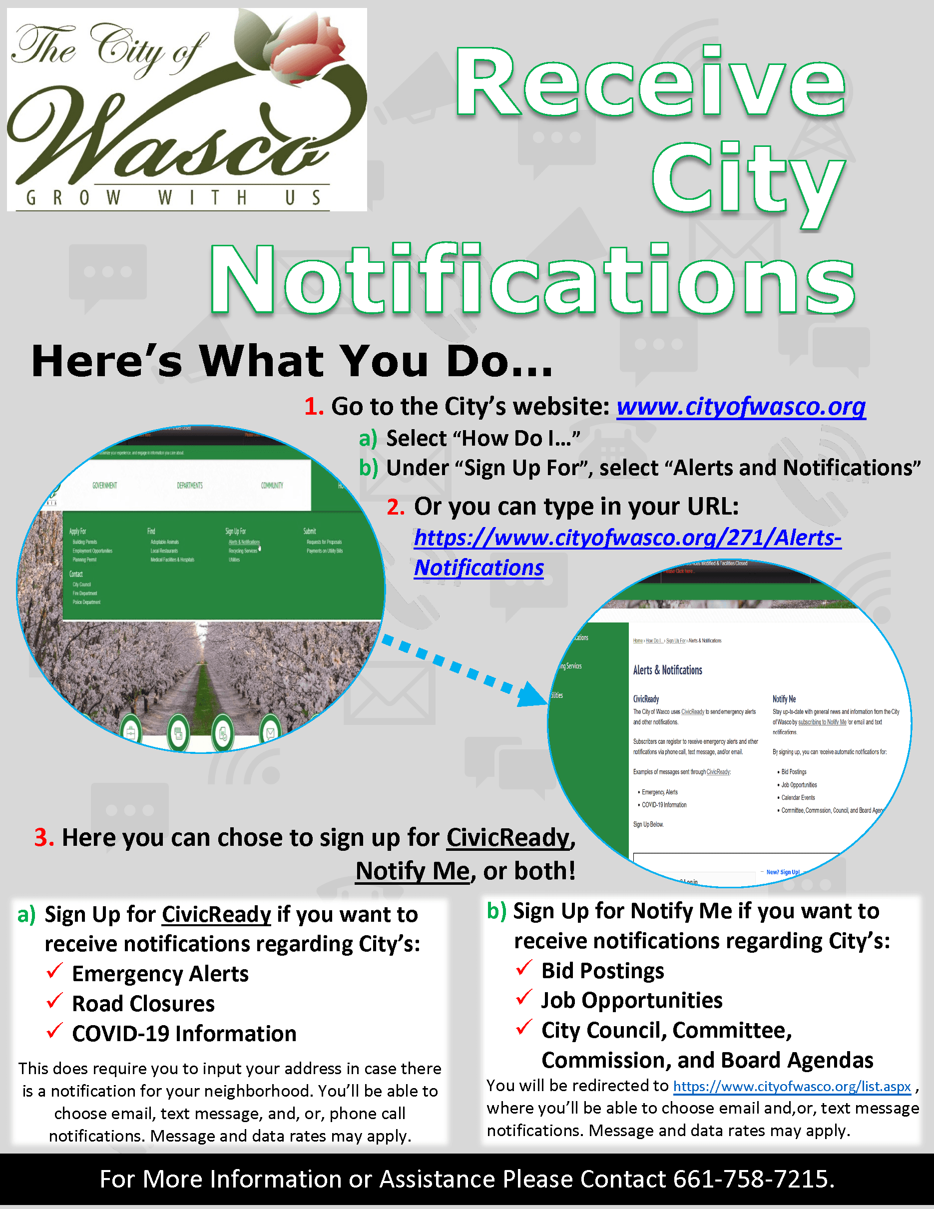 City Notifications Flyer Update