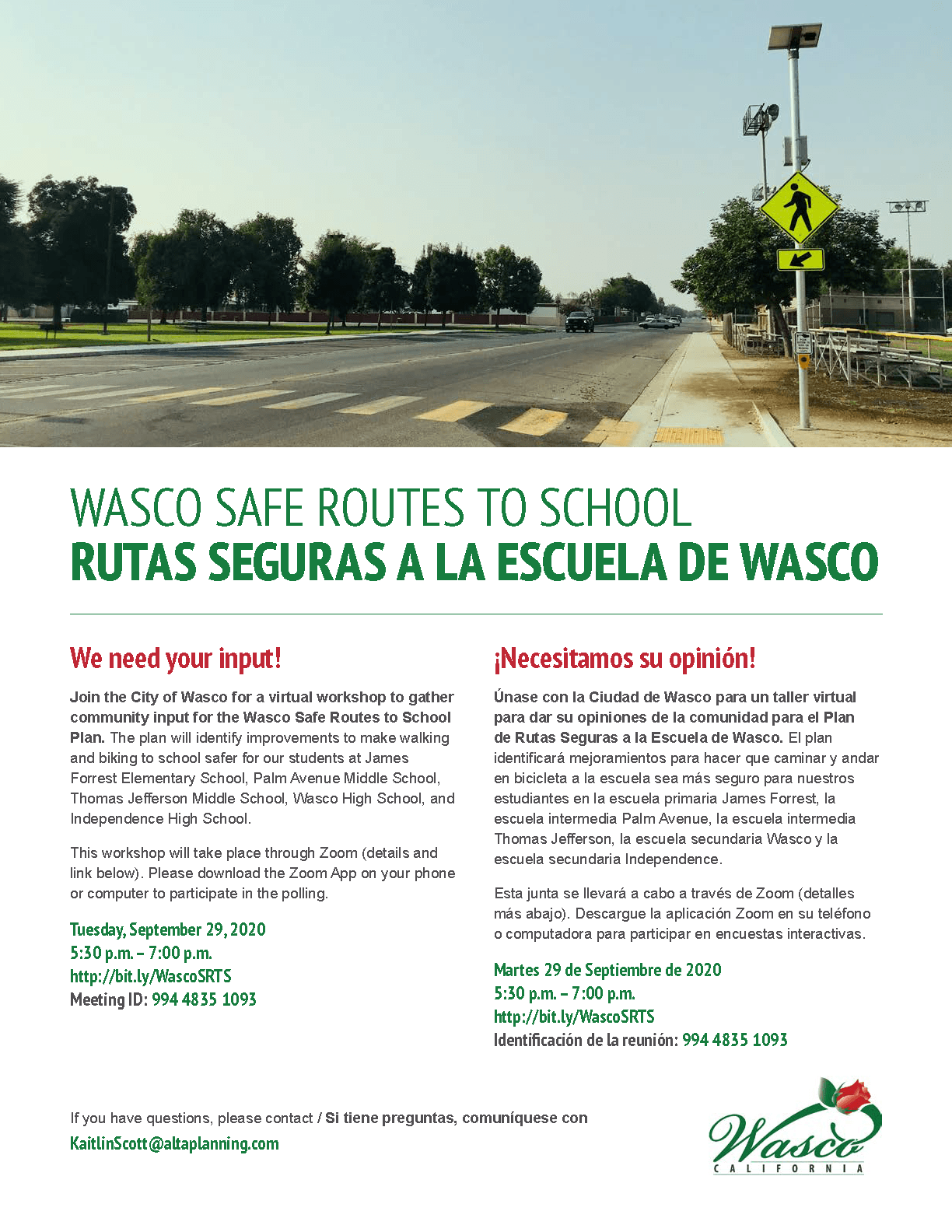Safe Routes to School Workshop