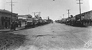 Historic Black and White Photograph of Downtown Wasco